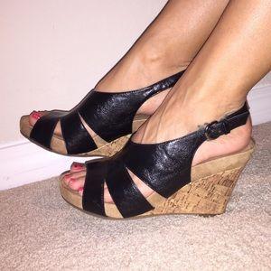 AEROSOLES Shoes - Aerosoles black/cork wedges ☀️🌴