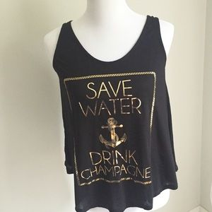 Boutique Tops - 🎉HOST PICK 🎉Sz S Save Water Drink Champagne tank