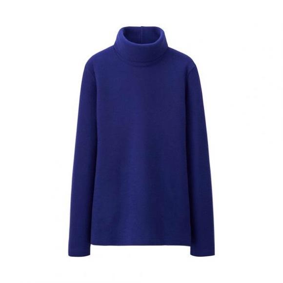 89d5b03a UNIQLO Tops | Heattech Fleece Turtleneck Long Sleeved T | Poshmark