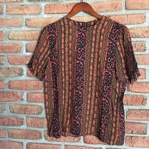 vintage tribal print top