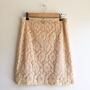 Francesca's Gold Lace Skirt - Give Me an Offer!