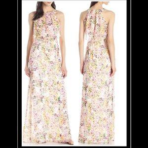 Jessica Simpson Floral-Print Popover Maxi Dress