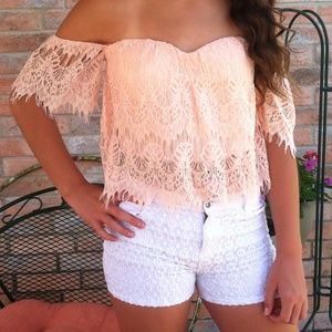 Pale pink lace too