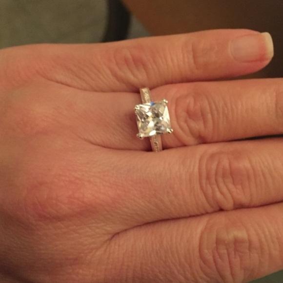 c9eab80ad18 1.5 ct Princess Cut CZ Diamond Engagement Ring 💎 Boutique
