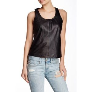 Muubaa Black Crocodile Leather Tank
