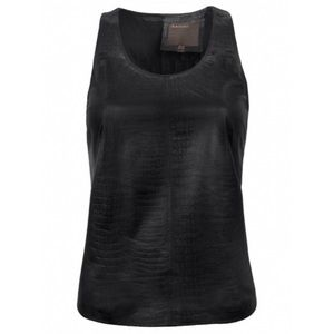 SALE! 💐 Muubaa Black Crocodile Leather Tank
