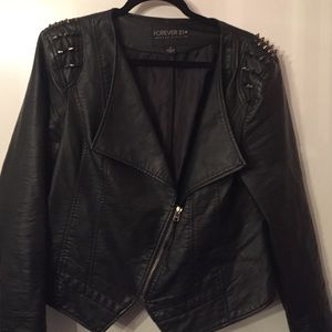 726db4a048 Forever 21 Jackets & Coats - Forever 21 spiked faux leather jacket plus size