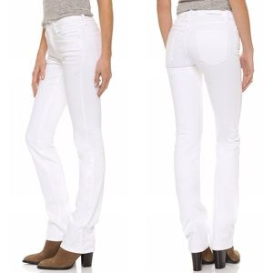 Current/Elliott White Slim Straight Jeans