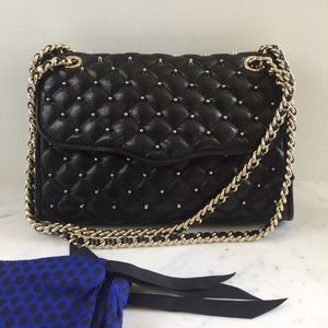 REBECCA MINKOFF Quilted With Studs Shoulder Bag
