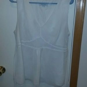 Merona white sleeveless blouse.
