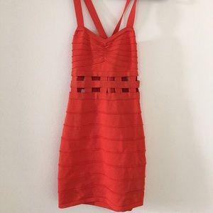 Bandage red/ orange dress
