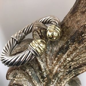 David Yurman Jewelry - David Yurman 10mm Ss/14KT BRACELET-JUST REDUCED!