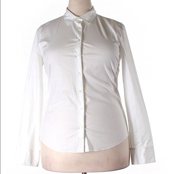 81% off J. Crew Tops - J.Crew Stretch Classic Button Down Shirt ...