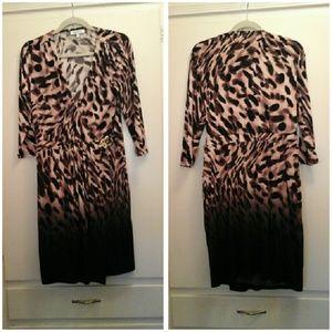 Jennifer Lopez Dresses & Skirts - Jennifer Lopez Print dress More Coffee!