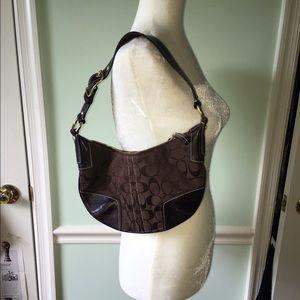 Coach brown shoulder purse