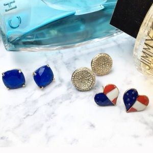 Wila Jewelry - 🇺🇸USA American Flag Heart Stud Earrings🇺🇸