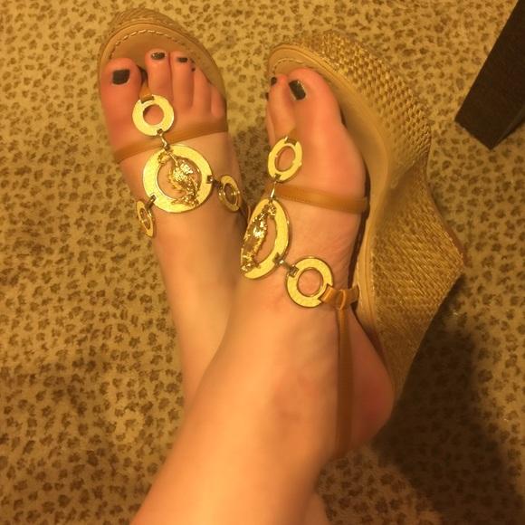 Miss Trish of Capri for Target Shoes | Wedge Thongs | Poshmark