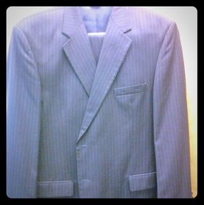 Other - Blue pinstripe wool suit