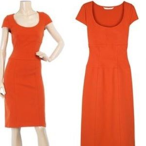 Diane von Furstenberg Dresses & Skirts - DVF Orange ponte dress sz 12