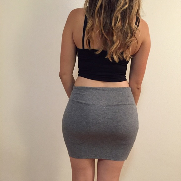 67% off Dresses & Skirts - Heather Grey Bodycon Mini Skirt from ...