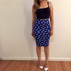 Dresses & Skirts - Anchor Bodycon Midi Skirt