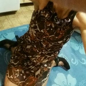 Dress with earthy colors