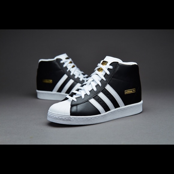 adidas SUPERSTAR UP White/Black/Gold Hype DC