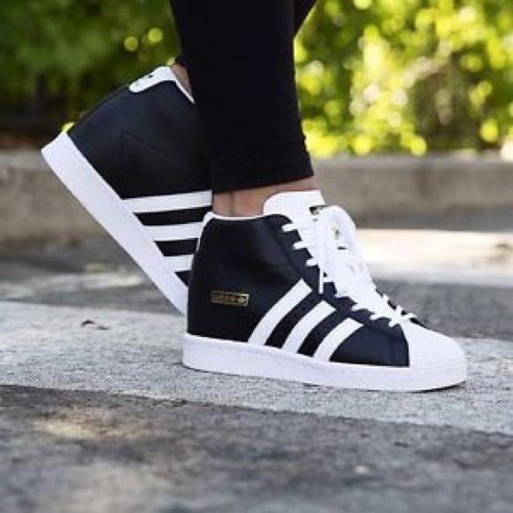 Wedge White Superstar Black Adidas Up Hidden Shoe Rw8nPAxWZ