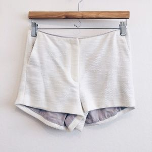 [l'agence] • [textured white shorts]