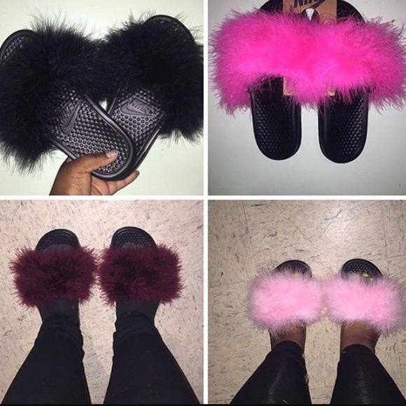 Nike Shoes | Nike Furry Slippers All