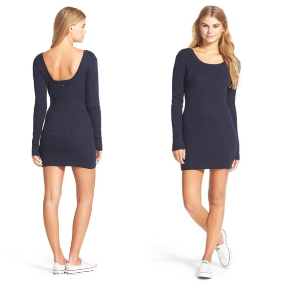 ... High  Ribbed Navy Mini Sweater Dress. M 575cf0db2de5127bbf00ec13 5b067fdcd