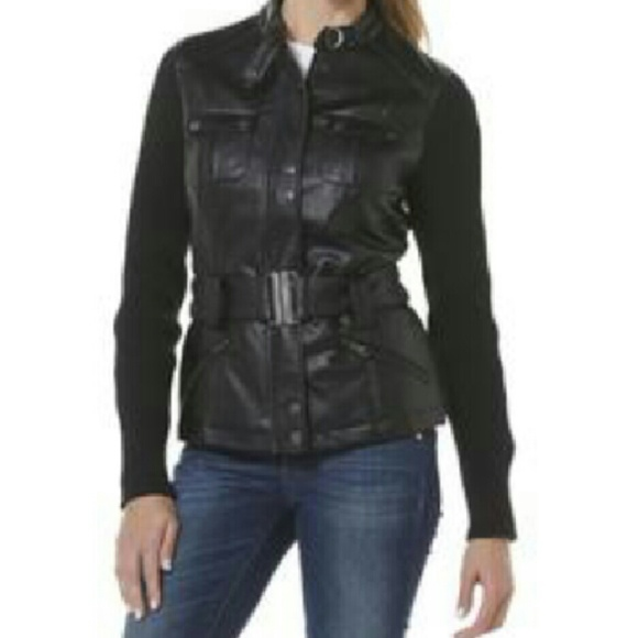 76% Off Jackets U0026 Blazers - Cute Black Faux Leather Jacket ...