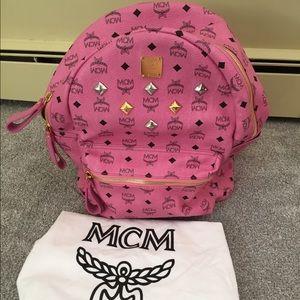 MCM Handbags - MCM pink backpack. Valentines Sale!!!!😘