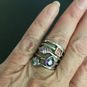 Jewelry - Stainless stack rings Sz 6