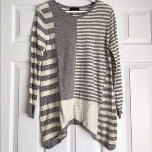 Light Gray Stripes Sweater