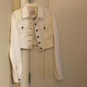 White Free People Fitted Denim Jacket w/tags