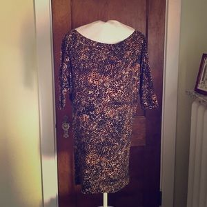 French Connection leopard print dress