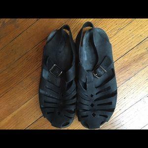 Mephisto Shoes - Mephisto Heika Black Sandalbuck 6000