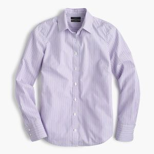 Perfect shirt, lilac with white/navy stripes