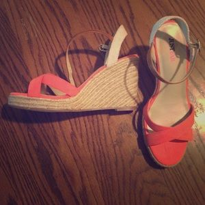 JustFab Coral Wedge Sandals Size 7.5