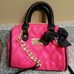 Pink Betsey Johnson Crossbody Bag