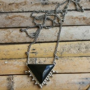 Black Triangle Statement Necklace