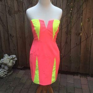 do & be Dresses & Skirts - 🎉🎊Host Pick🎊🎉Hot pink& neon yellow dress🎊🎉