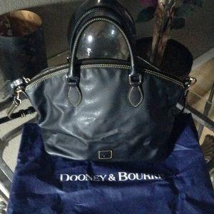 Handbags - Dooney Black Nylons Satchel Bag