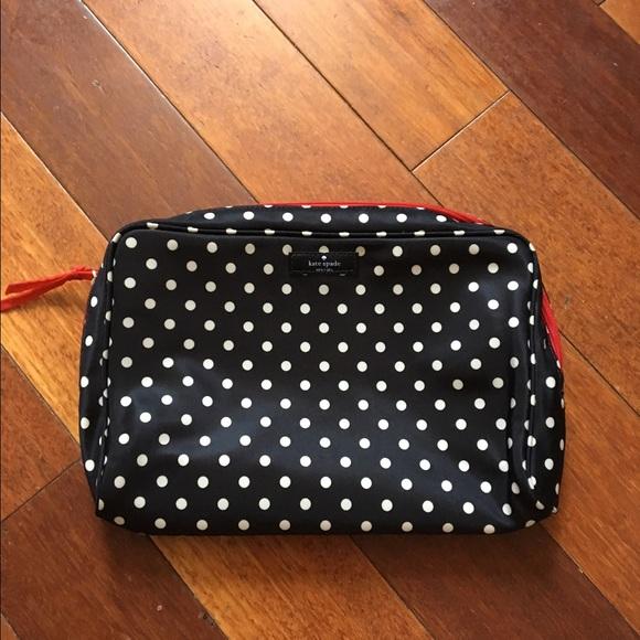2dc4d08f7e kate spade Other - Kate Spade polka dot makeup bag.
