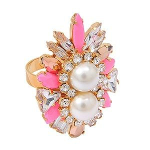 Shourouk Jewelry - Shourouk Lady Woolit Pink Ring in Pink and Gold