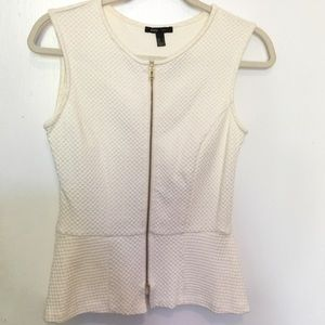Mango Tops - MANGO Zip Front Sleeveless Tank Top Vest