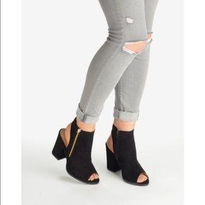 2b5e6666d12 Linzi Shoes - Block Heeled Open Toe Ankle Boot