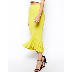 ASOS Stretch Skirt With Peplum Hem