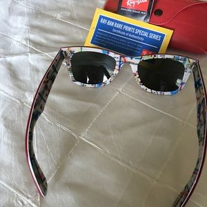 5e8f953b21 ... best price ray ban accessories ray ban rare nyc metro special print red  wayfarer 8976f 1d0d2 ...
